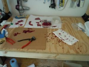 Workbench-Using Ruby scrap glass