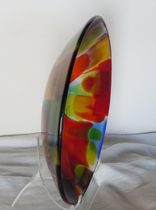 Finished Bowl on Stand_Glossy Exterior_Satin Interior