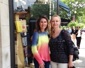 Elaine Pirozzi, Me, Kramer Books, Dupont Circle, DC After Lunch