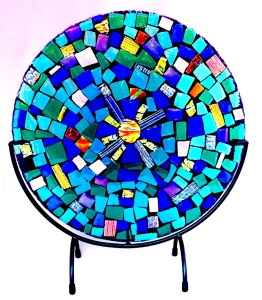 """12""""d Sunburst Mosaic; Astral Musings Collection, 2015"""