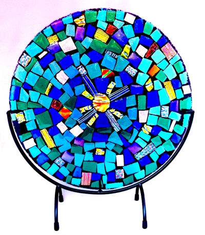 "12""d Sunburst Mosaic; Astral Musings Collection, 2015"